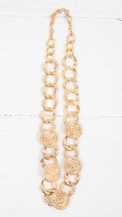 Chunky Chain Statement Necklace - Gold