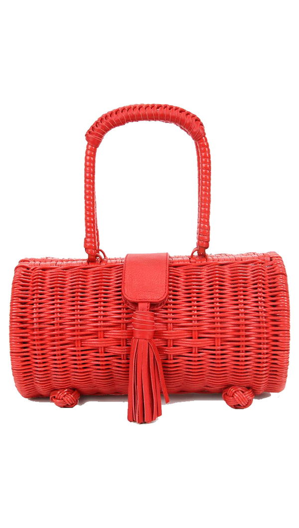 Clarissa Wicker Bag - Salsa