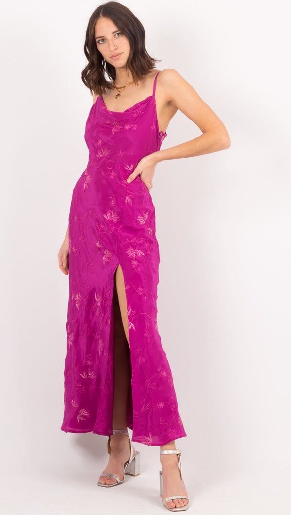Cleobella Fuschia Floral Maxi Dress