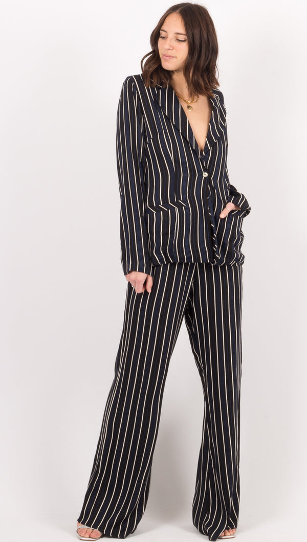 Cleobella Black Stripe Pants