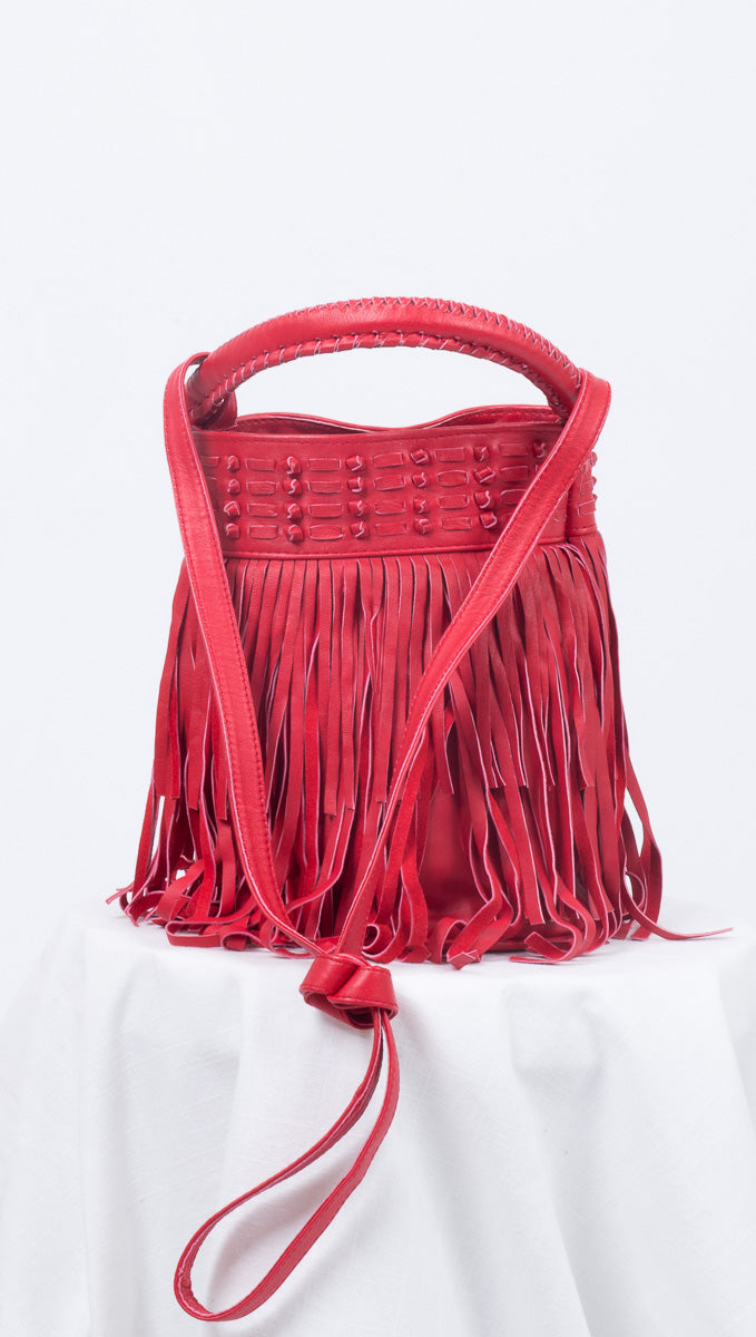 Scarlet Bucket Bag - Salsa