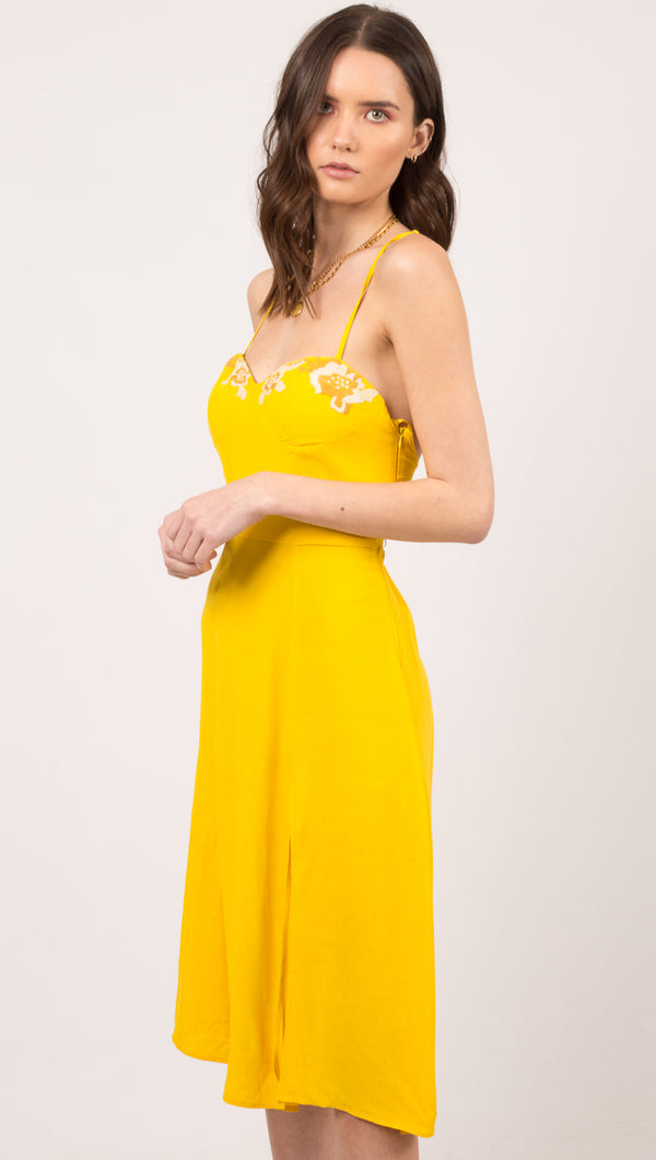 Tegan Dress - Yellow