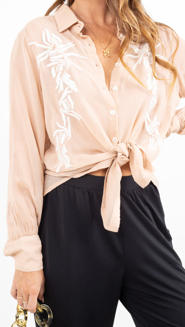 Lauren Blouse - Nude