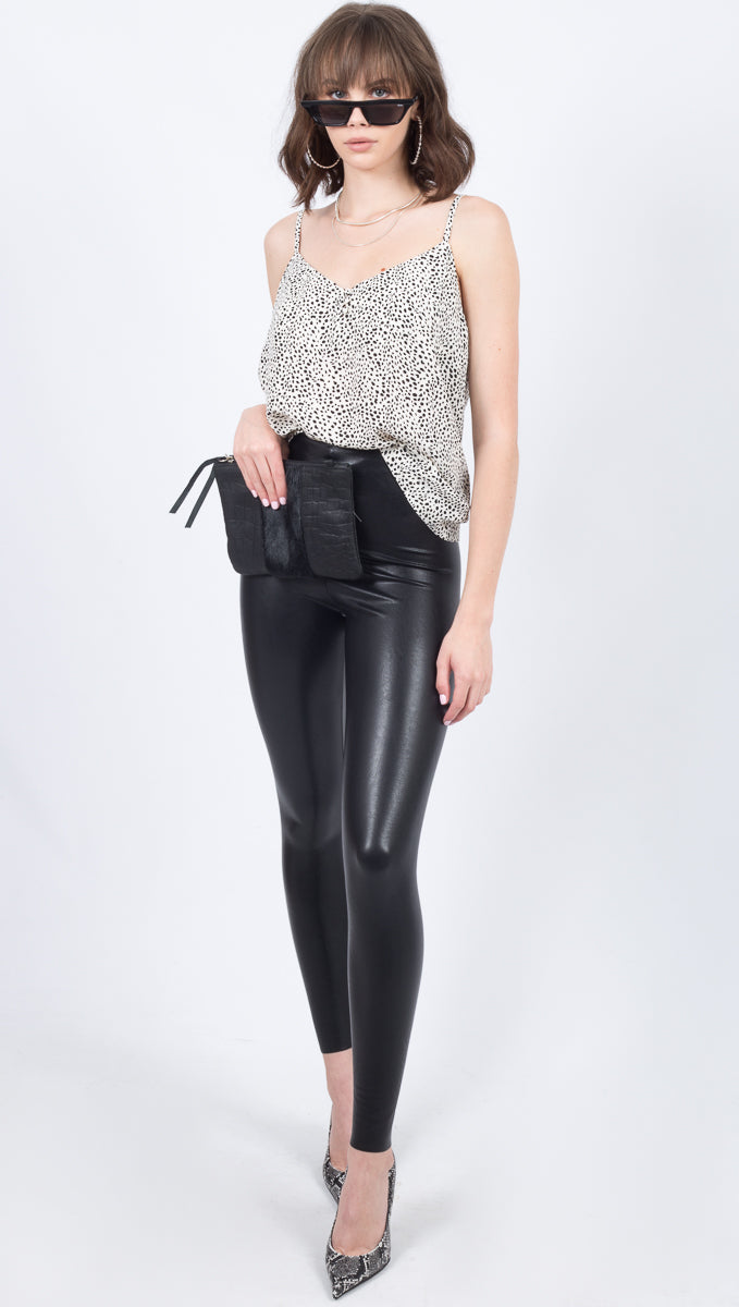 Perfect Control Faux Leather Legging - Black