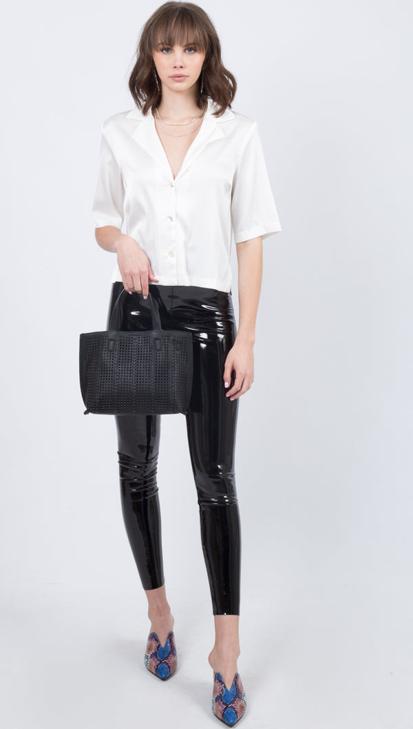 Commando Black Faux Patent Leather Leggings