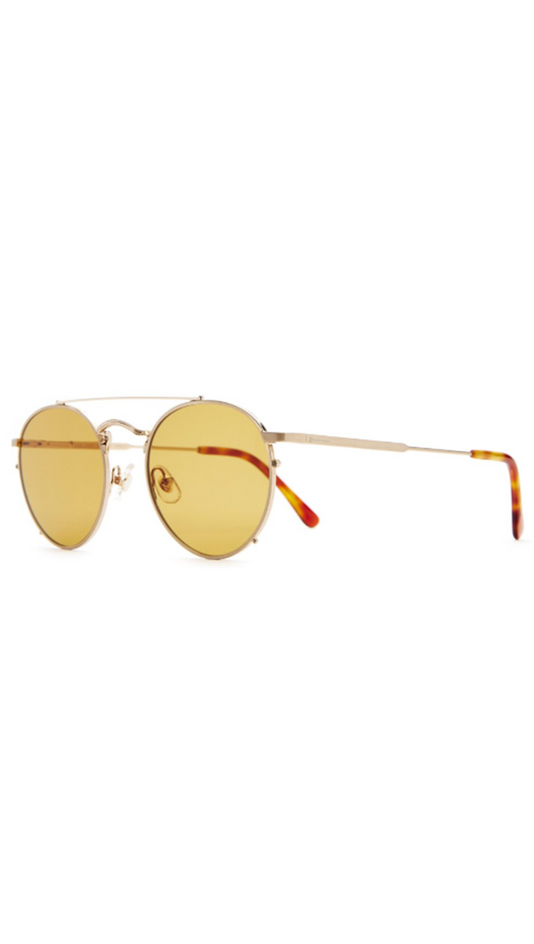 The Tuff Safari - Brushed Gold & Havana Tortoise/Mustard