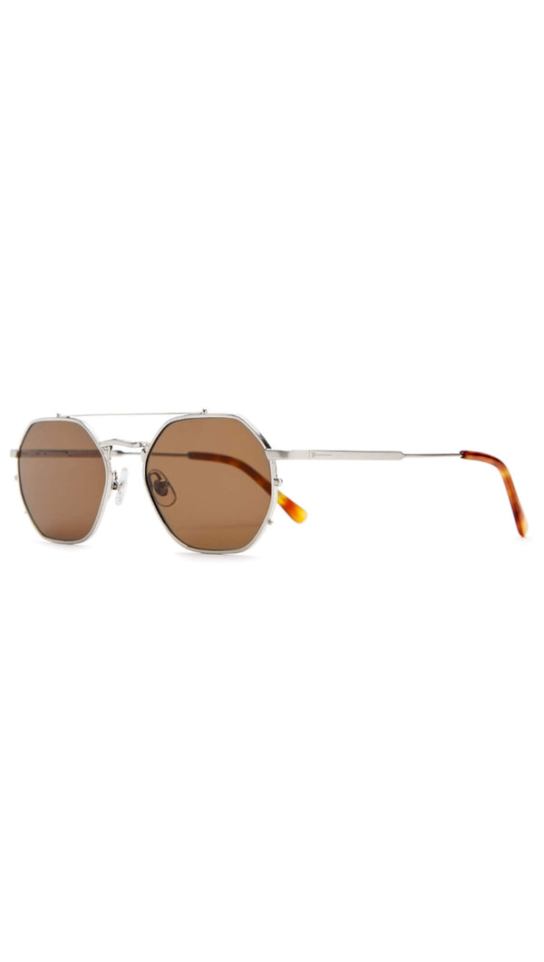 The Jazz Safari - Brushed Silver & Havana Tortoise/Amber