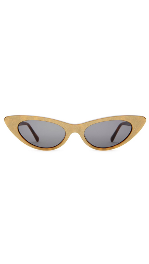 Golden Beige Cat Eye Sunglasses