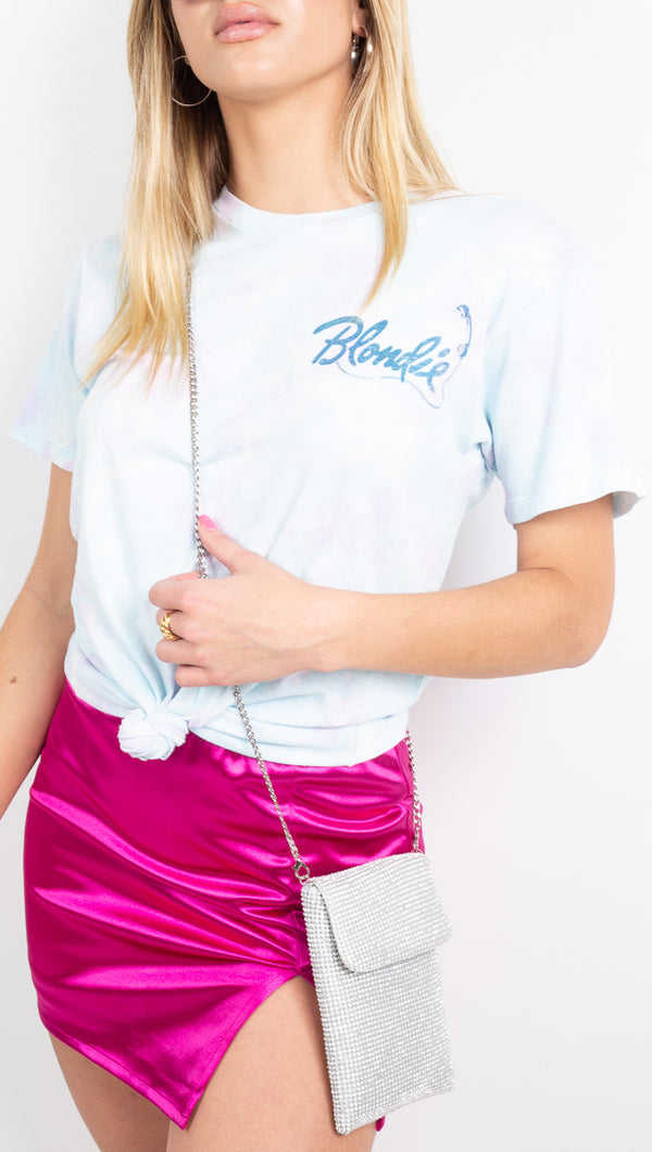 Blondie Call Me Weekend Tee - Cotton Candy Wash