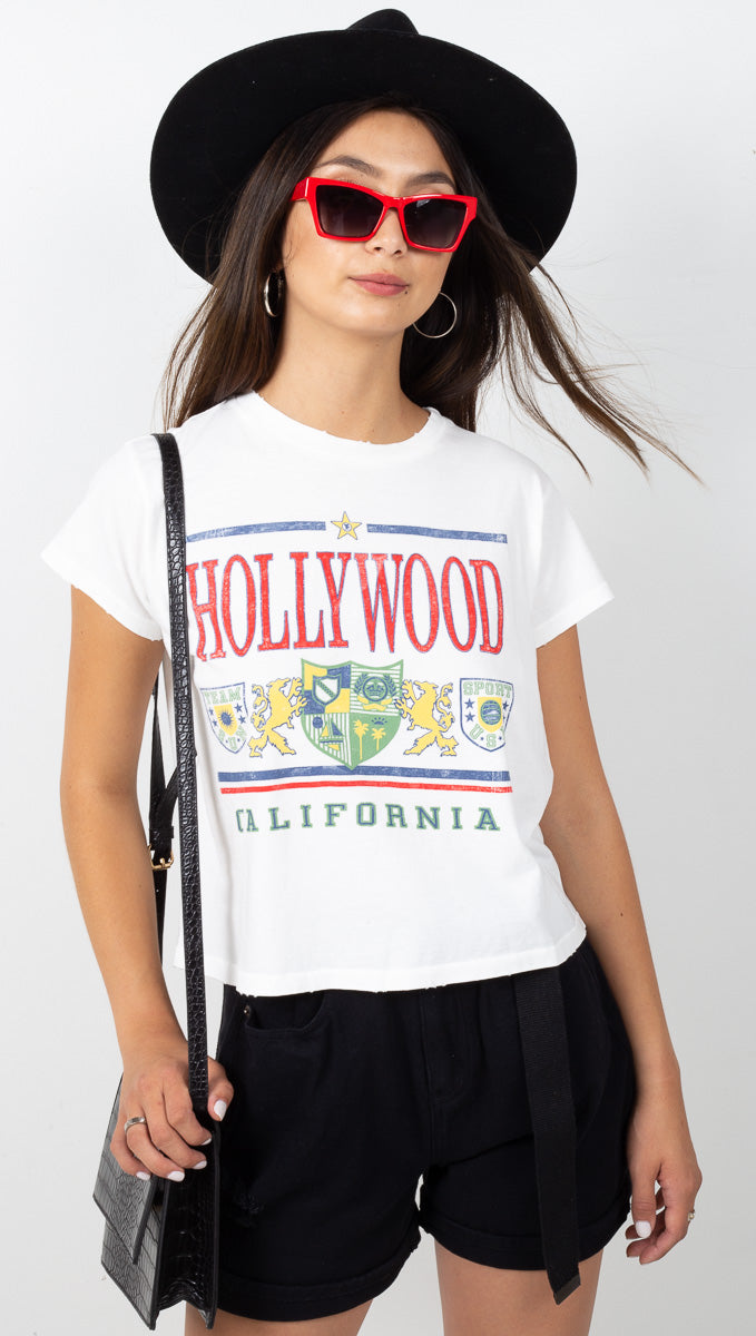 Hollywood Girlfriend Tee - Vintage White