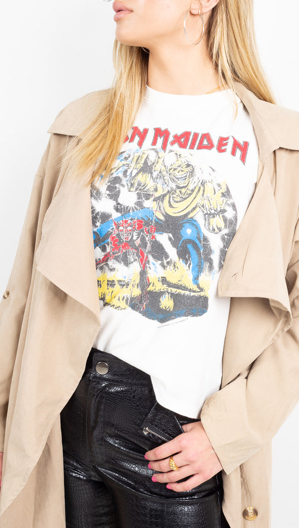 Daydreamer Iron Maiden White Graphic Tee