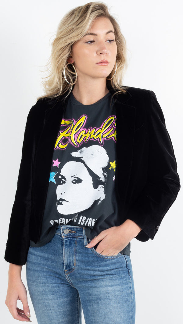 Blondie Dreaming Is Free Rocker Muscle - Vintage Black