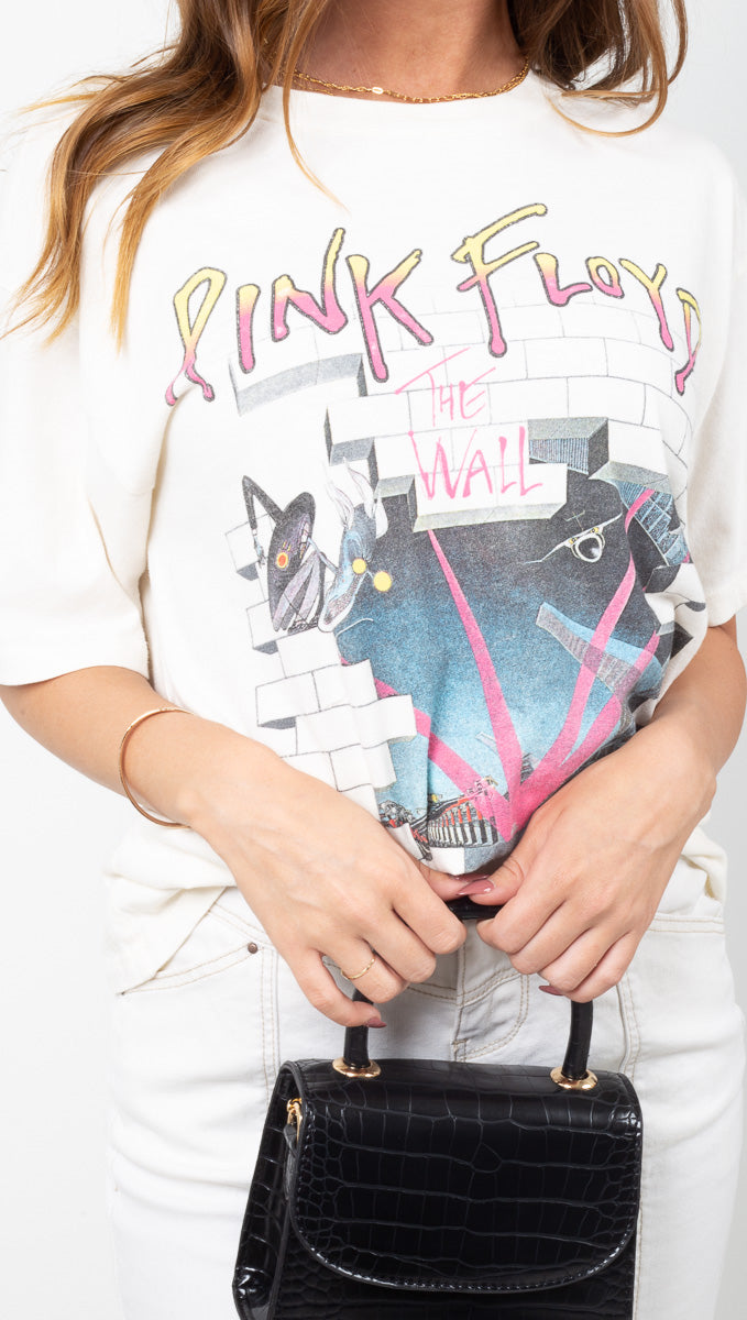 Daydreamer Off White Pink Floyd Graphic Tee