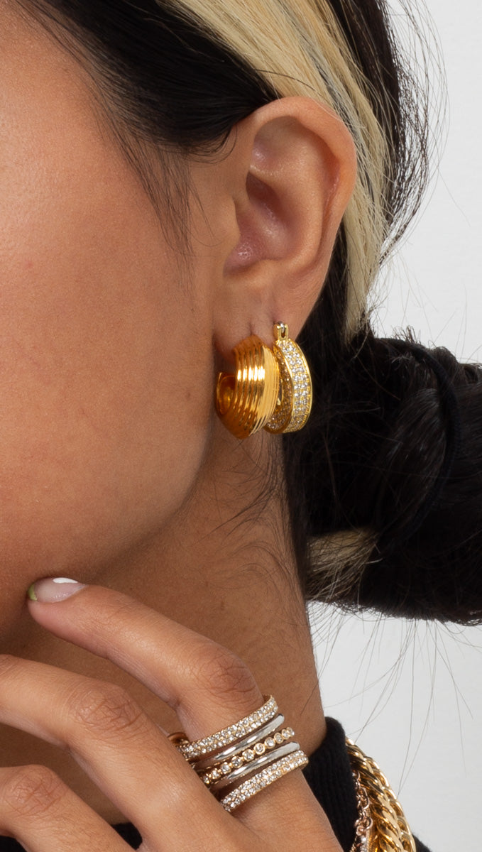 Corfu Hoops - Gold