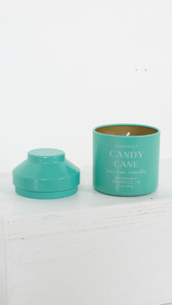 Whimsy 3 oz Tin Candle - Candy Cane