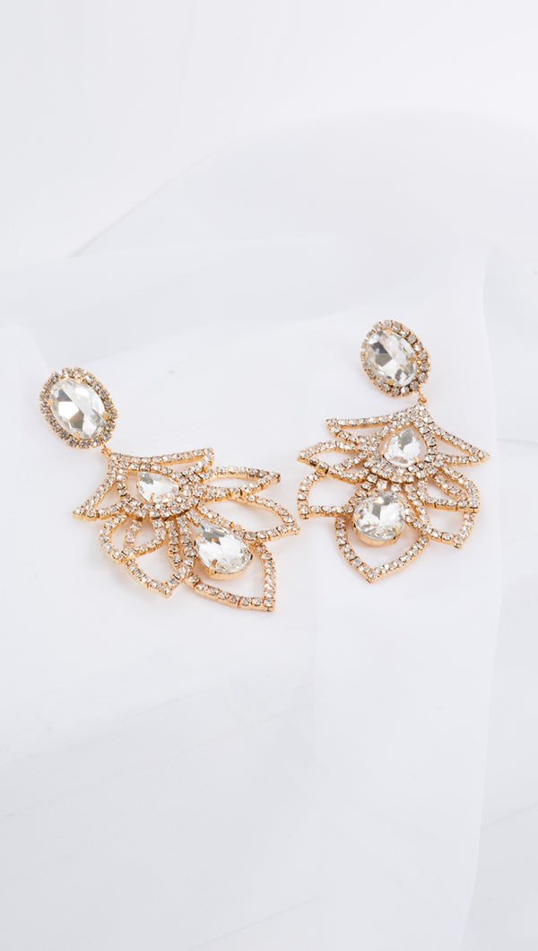 Queen Statement Earrings - Gold Plated