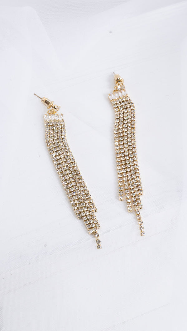 Charlotte Dangling Statement Earrings - Gold Plated