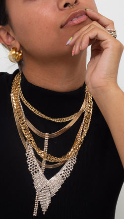 Toggle Clasp Chain Necklace - Gold Plated