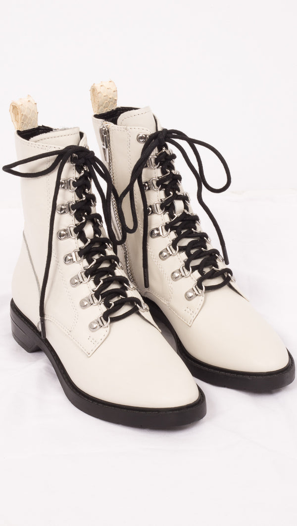 Dolce Vita Off White Combat Boots