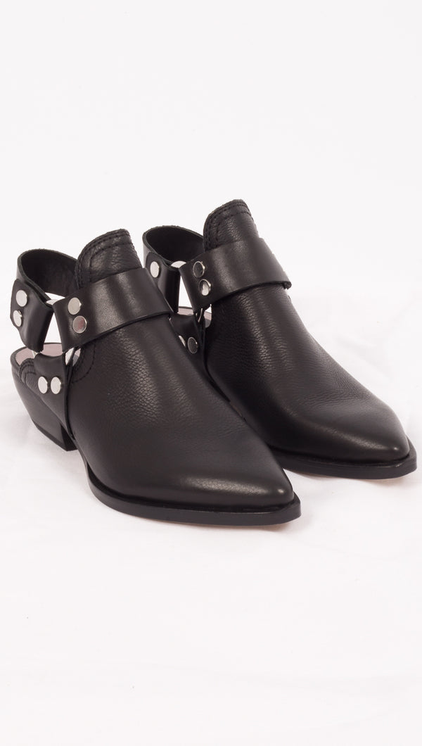 Dolce Vita Black Leather Booties