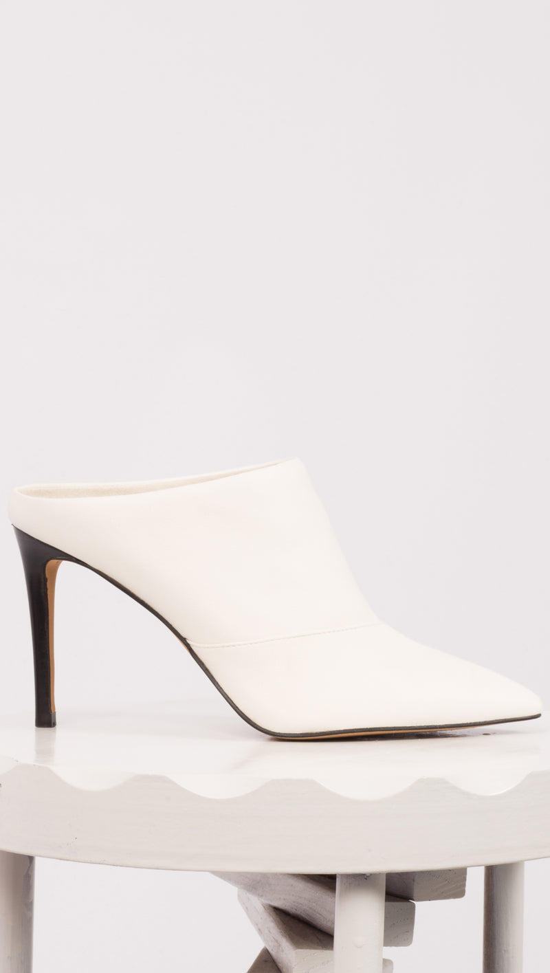 White Leather Heels