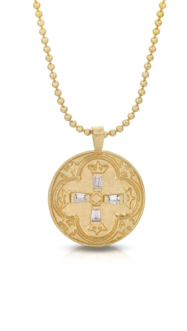 gold necklace with 20mm pendant