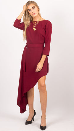 Iva Dress - Ox Blood