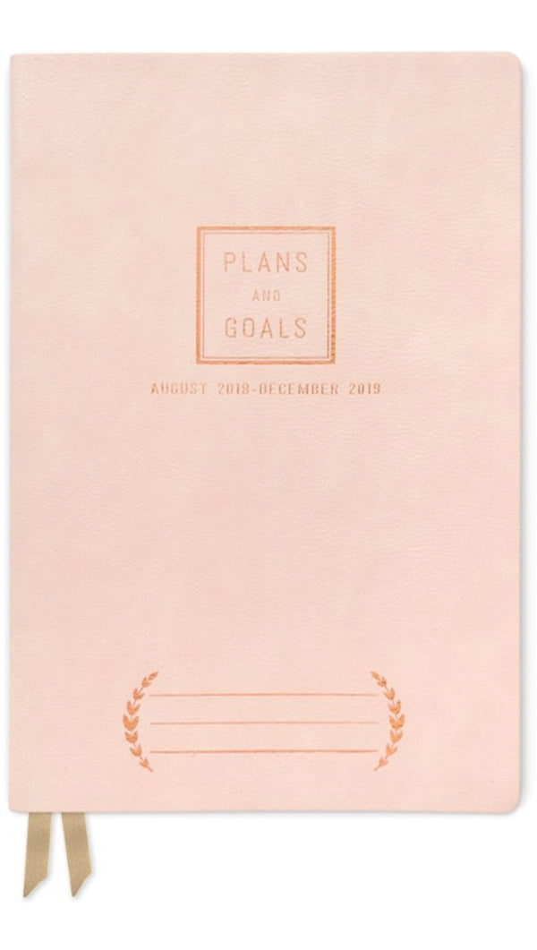Design Works Ink Light Pink Vegan Leather Small Monthly Planner