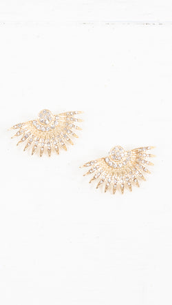Dylan Statement Earrings - Gold