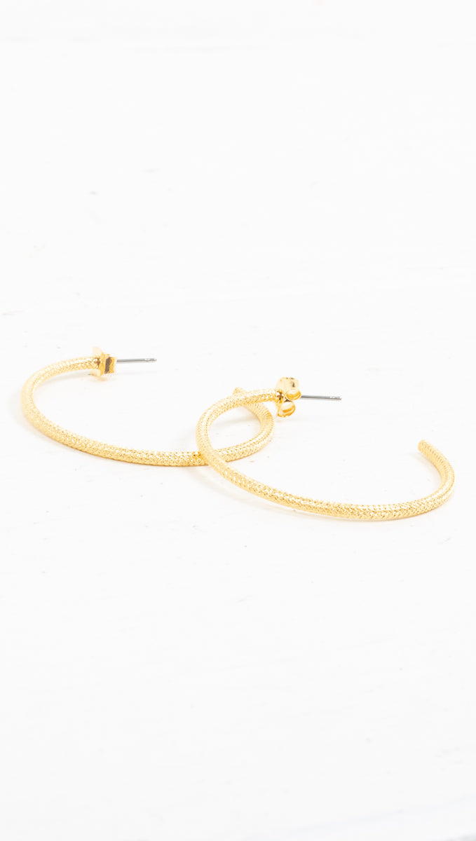 Rope Detached Hoops - Gold