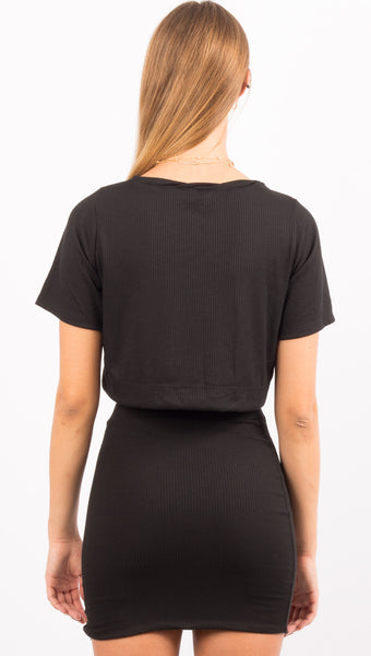 Helm Crop TShirt - Black
