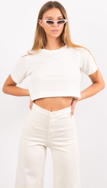 Helm Crop TShirt - White