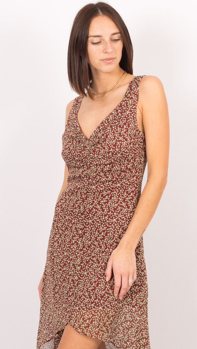 Arielle Midi Dress - Merlot Constellation