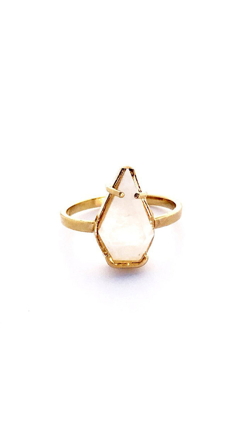 Erin Fader Jewelry Gold Plated Moonstone Ring