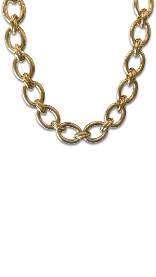 Erin Fader Thick Twisted Links Chain Necklace in Gold