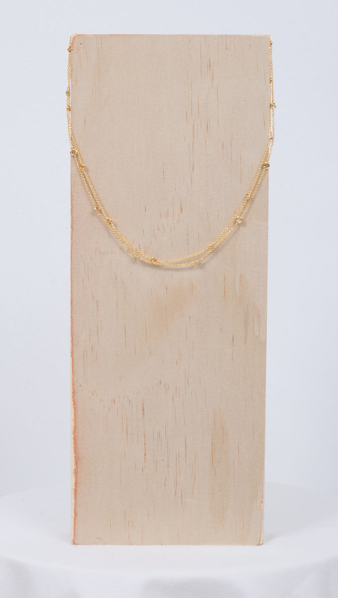 Layered Multi Stone Necklace - Gold
