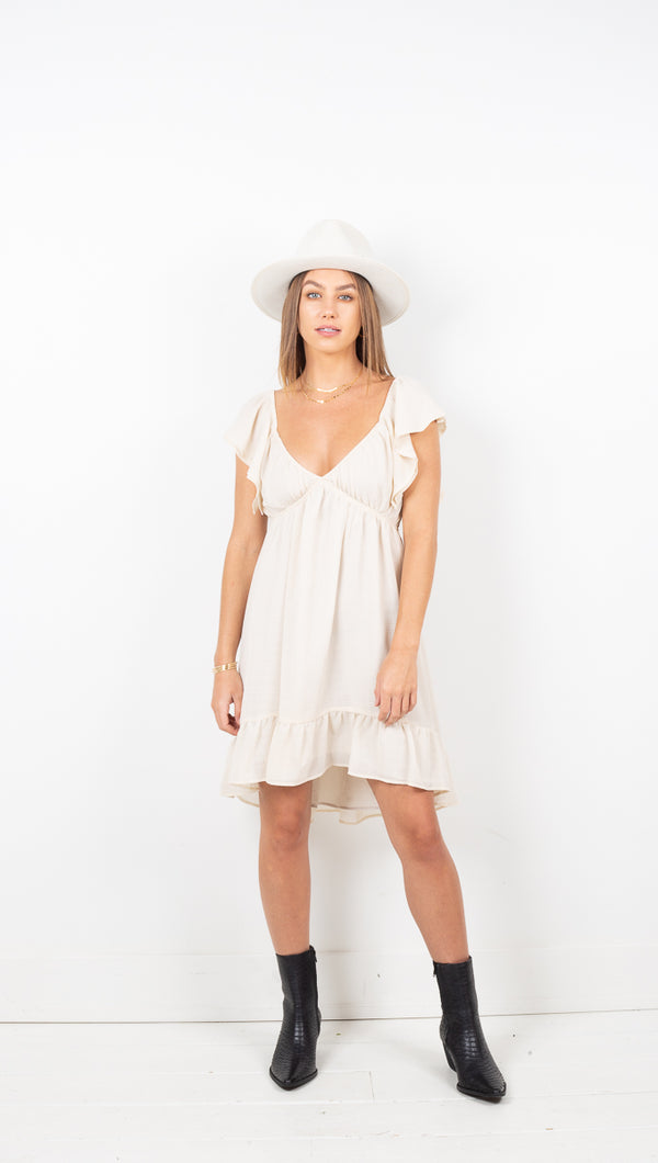 Vienna Mini Dress - Cream