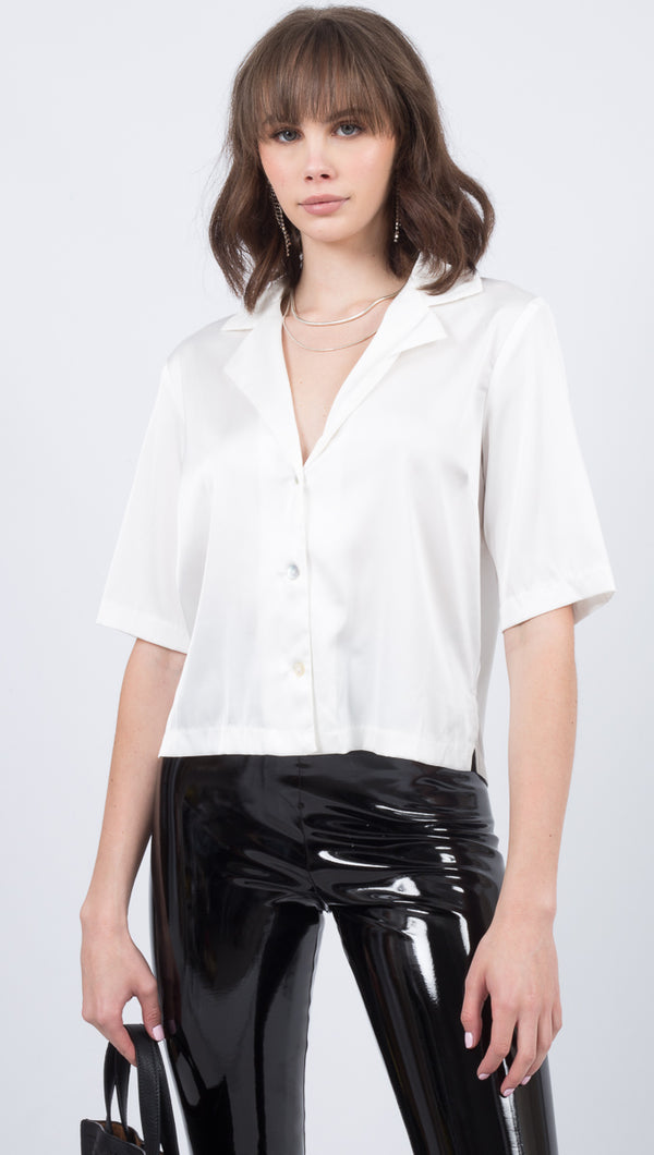 Alysia Collared Blouse - Off White