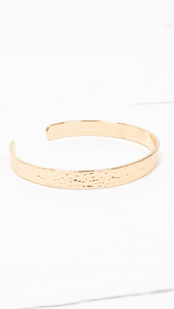 Hammered Cuff - Gold