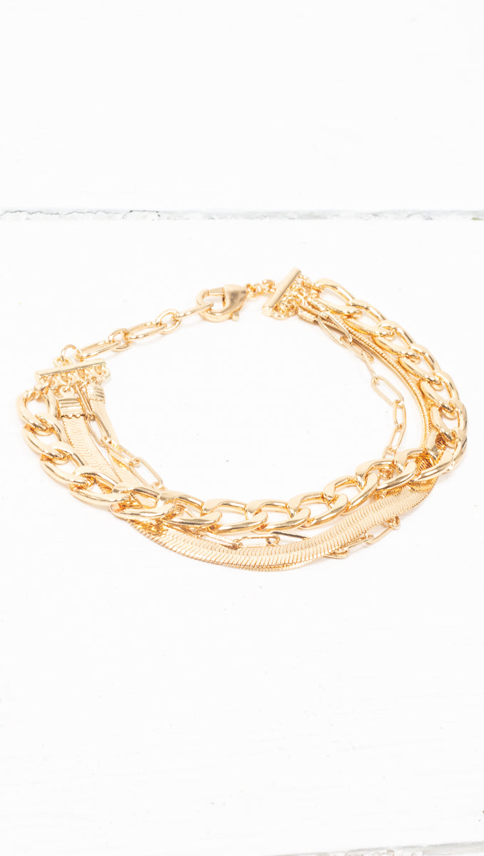 4 Layer Bracelet - Gold