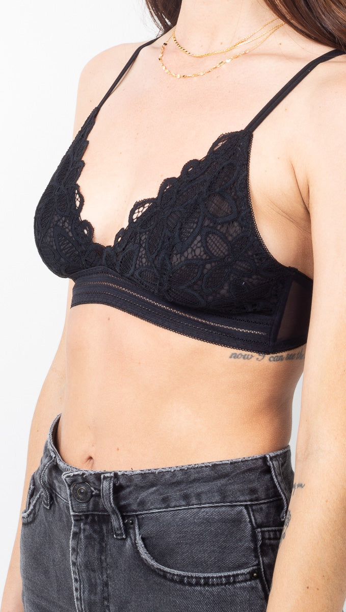 Aliyah Lace Bra - Black