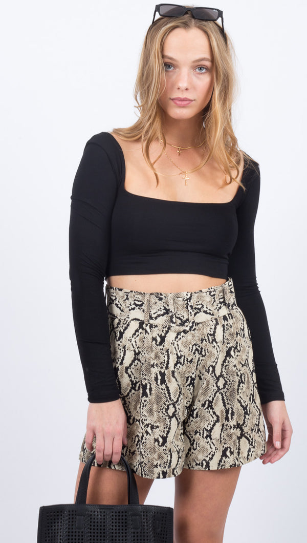 Call Me Crop Top - Black