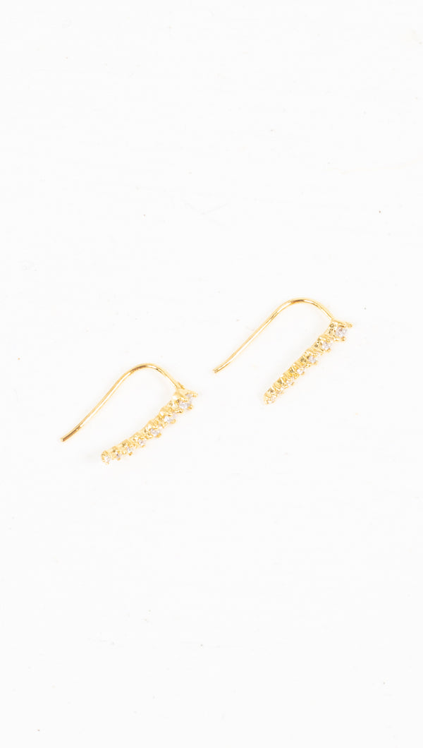 Dainty Crawler Earrings - Gold