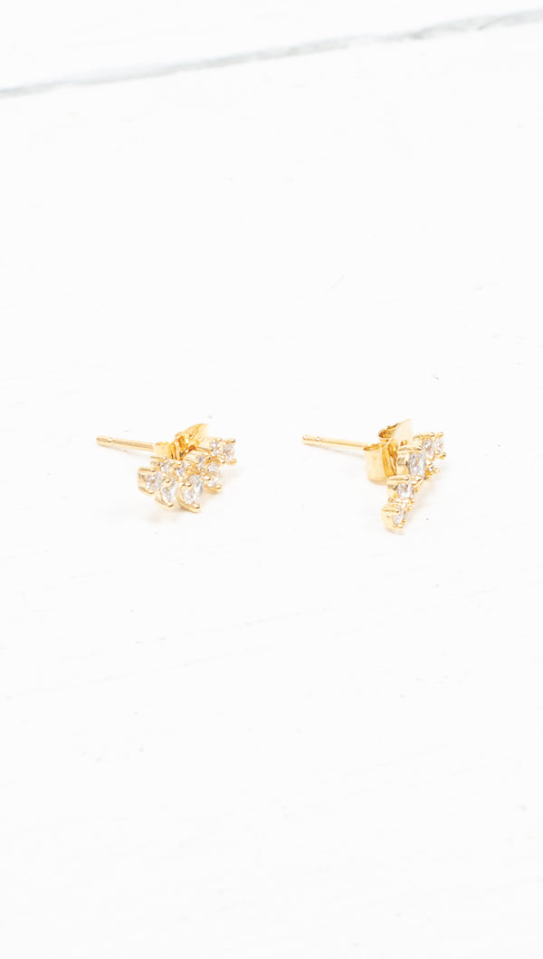 Camille Mini Crawler Earrings - Gold Dipped