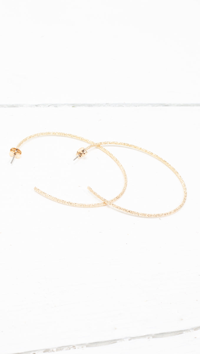 Glam Detached Hoops - Gold Dipped
