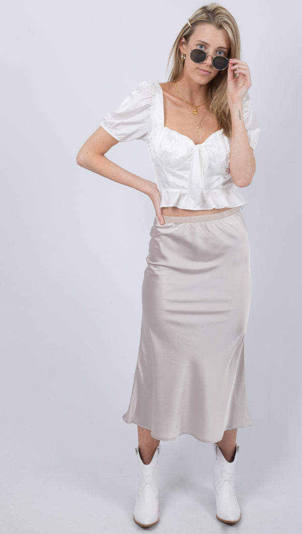 Emmie Skirt - Light Pewter
