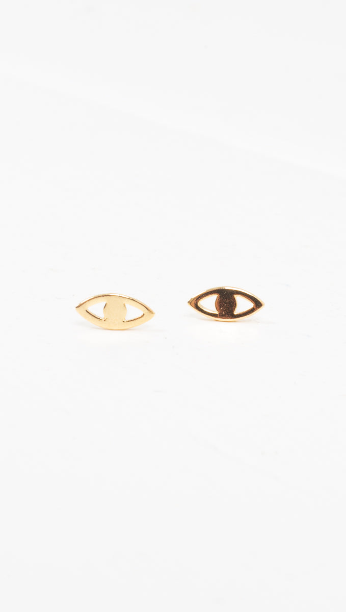 étoile gold  evil eye earrings
