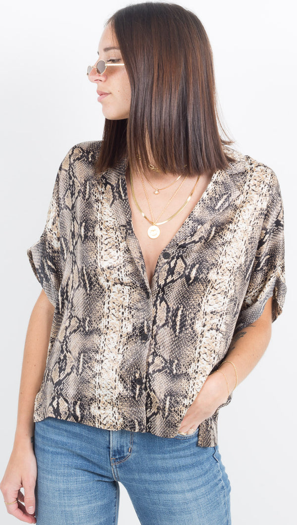 Fallon Button Down - Snake