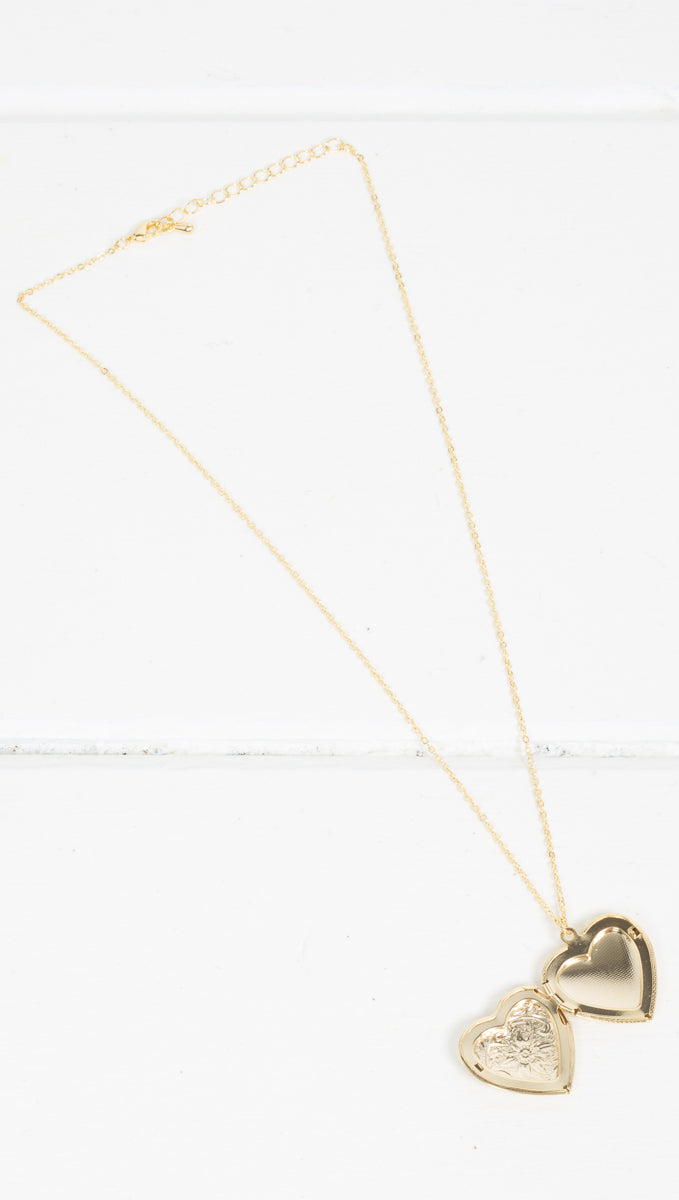 Forever Mine Locket - Gold