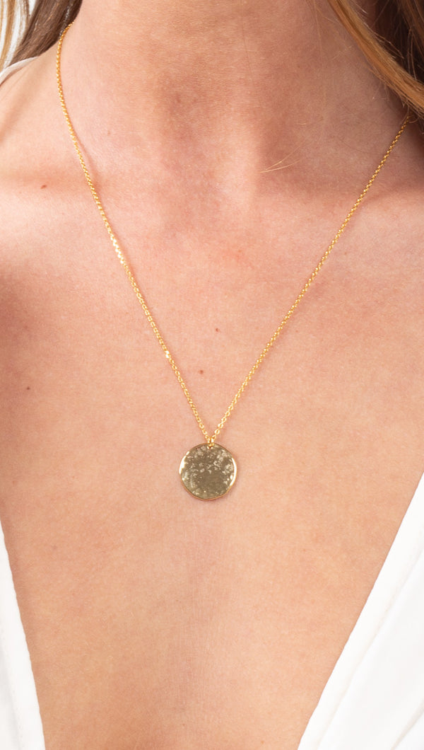 étoile Gold Dipped Hammered Coin Necklace